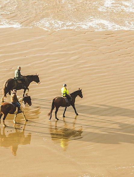 horse riding sand beach